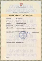 Registravimo pažymėjimas (2002)