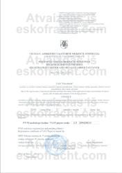 PVM mokėtojo registracijos pažymėjimas (2009)